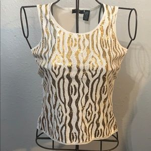 Gold Sequin Tank Top NWT